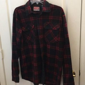 Men's wrangler fleece shirt small